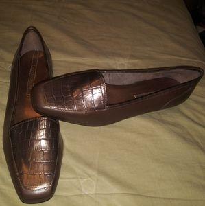 Bronze-Brown Designer Loafers 8-1/2N